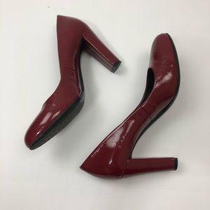 Calvin Klein red block heels size 7.5